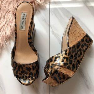 ❗️1hr sale Nine West leop print heels size 8